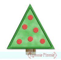 Simple Christmas Tree Applique 4x4 5x7