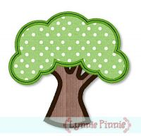 Simple Tree Applique 4x4 5x7