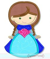 Snow Princess Cutie 4x4 5x7 6x10 SVG