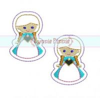Snow Princess Felt Clippies 4x4