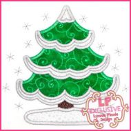 Snowy Tree Applique 4x4 5x7 6x10 7x11 SVG