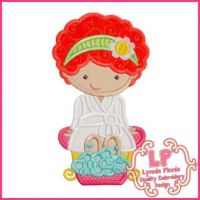 Spa Girl 1 Applique 4x4 5x7 6x10 SVG