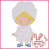 Spa Girl 2 Applique 4x4 5x7 6x10 SVG