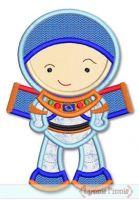 Little Cutie Space Explorer Boy Applique 4x4 5x7 6x10 SVG