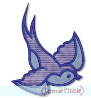 Sparrow Applique 4x4 5x7 6x10