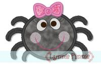 Cute Girly Spider Applique 4x4 5x7