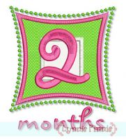 Square Numbers Monthly Milestones Set 4x4 5x7
