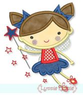 Star Fairy Applique 4x4 5x7 6x10