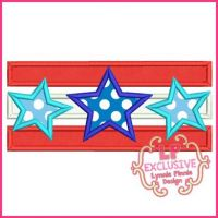 Stars and Stripes Applique 4x4 5x7 6x10 SVG
