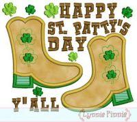 St. Patrick's Day Boots Design 4x4 5x7 6x10