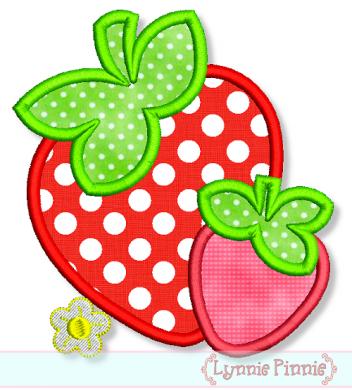 Strawberries Applique 4x4 5x7 6x10 Welcome To Lynnie Pinnie