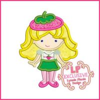 Strawberry Cutie Applique 4x4 5x7 6x10 SVG