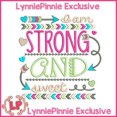 Strong and Sweet Tribal Arrows Word Art 4x4 5x7 6x10 7x11