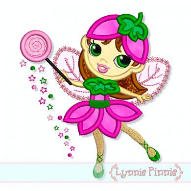 Sugarplum Fairy Applique 4x4 5x7 6x10 7x11