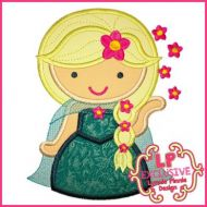 Sunflower Queen Cutie Applique 4x4 5x7 6x10 7x11 SVG