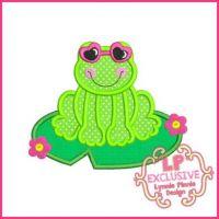 Sunglasses Frog Applique 4x4 5x7 6x10