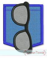 Sunglasses Pocket Applique 1 4x4 5x7 SVG