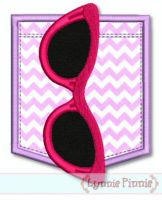 Sunglasses Pocket Applique 2 4x4 5x7 SVG