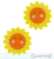 Happy Sunshine Felt Clippies Design 4x4