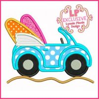 Surf Buggy Applique 4x4 5x7 6x10 SVG