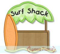 Surf Shack Applique 4x4 5x7 6x10