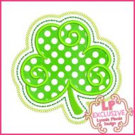 Swirly Shamrock Applique 4x4 5x7 6x10 7x11 SVG