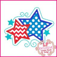 Swirly Stars Applique 4x4 5x7 6x10 SVG