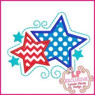 Swirly Stars Applique 4x4 5x7 6x10 SVG