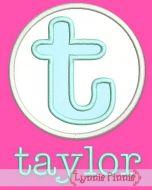 Applique Taylor Monogram Font Set 4x4