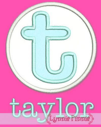 Applique Taylor Monogram Font Set 5x7