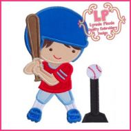T-Ball Boy Applique 4x4 5x7 6x10 SVG