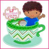Teacup Ride Boy with Curly Hair 4x4 5x7 6x10 7x11