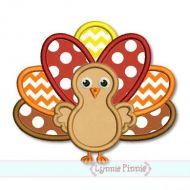 Thanksgiving Turkey Applique 4x4 5x7 6x10 SVG