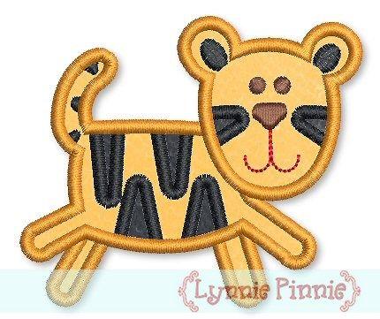 Tiger Applique 4x4 5x7 6x10