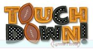 Touchdown Football Applique 4x4 5x7 6x10 SVG