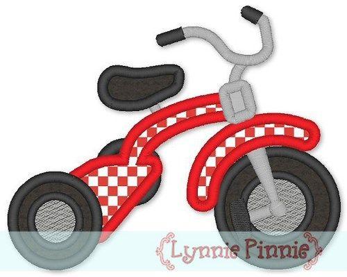 Tricycle Applique 4x4 5x7 6x10