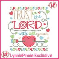 Trust in the Lord PROVERBS 3:5 Tribal Arrows Word Art Applique 4x4 5x7 6x10 7x11