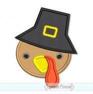 Boy Turkey Face 4x4 5x7 6x10 SVG
