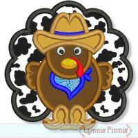 Cowboy Turkey Applique 4x4 5x7 6x10 7x11