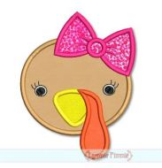 Girl Turkey Face 4x4 5x7 6x10 SVG