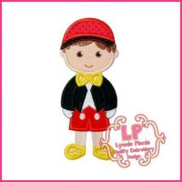 Tux Boy Applique 4x4 5x7 6x10