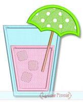 Umbrella Drink Applique 4x4 5x7 6x10 SVG