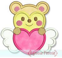 Sweetheart Valentine Hamster Applique 4x4 5x7