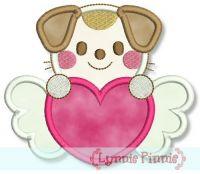 Sweetheart Valentine Dog Applique 4x4 5x7
