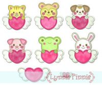 Sweetheart Valentine Animals Applique 4x4 5x7
