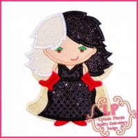 Villain Queen 2 Applique 4x4 5x7 6x10