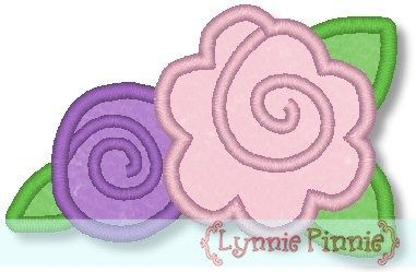 Applique Western Roses 4x4 & 5x7