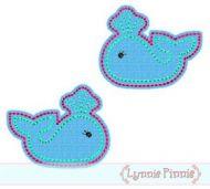 Whale Felt Clippies Design 4x4