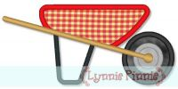 Wheelbarrow Applique 4x4 5x7 6x10