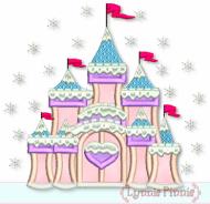 Fancy Winter Castle Applique 4x4 5x7 6x10 7x11